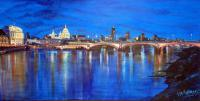 London By Night -Blue